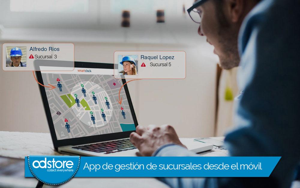 App de gestión de sucursales desde el móvil